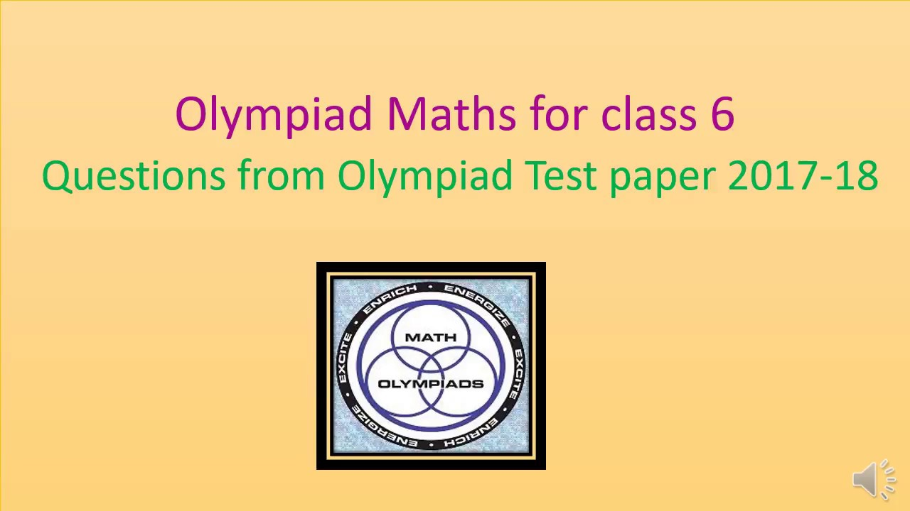 Olympiad maths for class 6