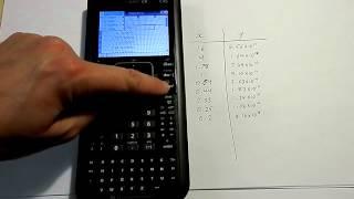 الانحدار الخطي و خط تناسب على Nspire CX حاسبة