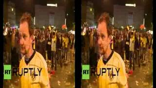 Champions league final Losing Borussia Dortmund fans of the great sorrow.