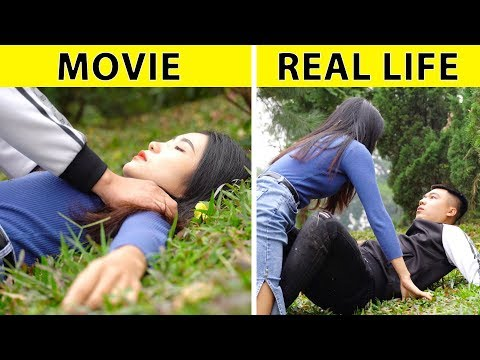 Movies Vs Real Life    FUNNY RELATABLE SITUATIONS ANYONE CAN RECOGNIZE by  GLASSES MEDIA