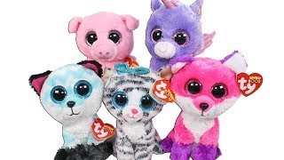 Beanie Boo Haul with Claires Exclusives Unboxing Toy Review TY Beanie Boos  Plush 6300bc474458