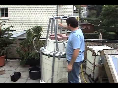 """Running a small engine on household biogas using """"brickage' for gas pressure 2"""