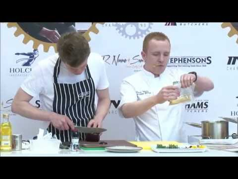 North West Young Chef of the Year Danny Young cooking in Chef Live