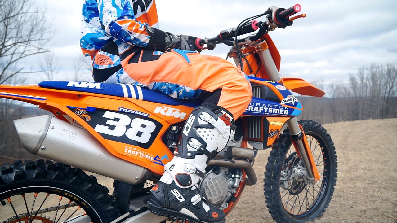ktm 250sxf factory edition - private track - youtube