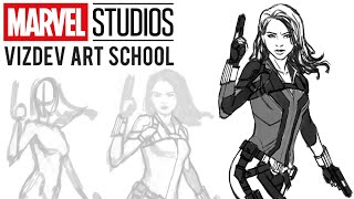 How to Draw Marvel Studios' Black Widow with Andy Park