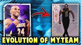 THE EVOLUTION OF NBA 2K MyTEAM!! *NBA 2K13 - NBA 2K19*
