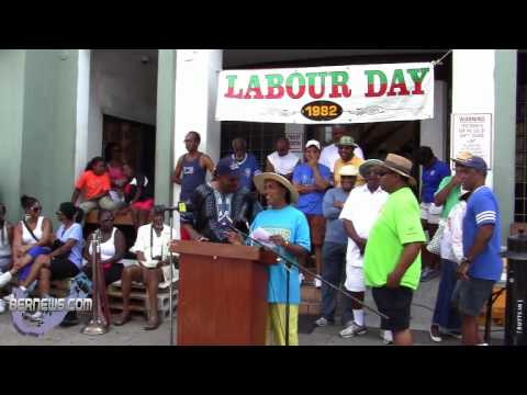 UBP Leader Kim Swan At Labour Day, Sept 3 2012