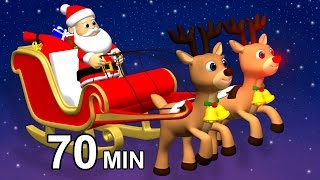 Jingle Bells & Santa Claus  Christmas Carols for Kids  Christmas Songs Playlist for Children