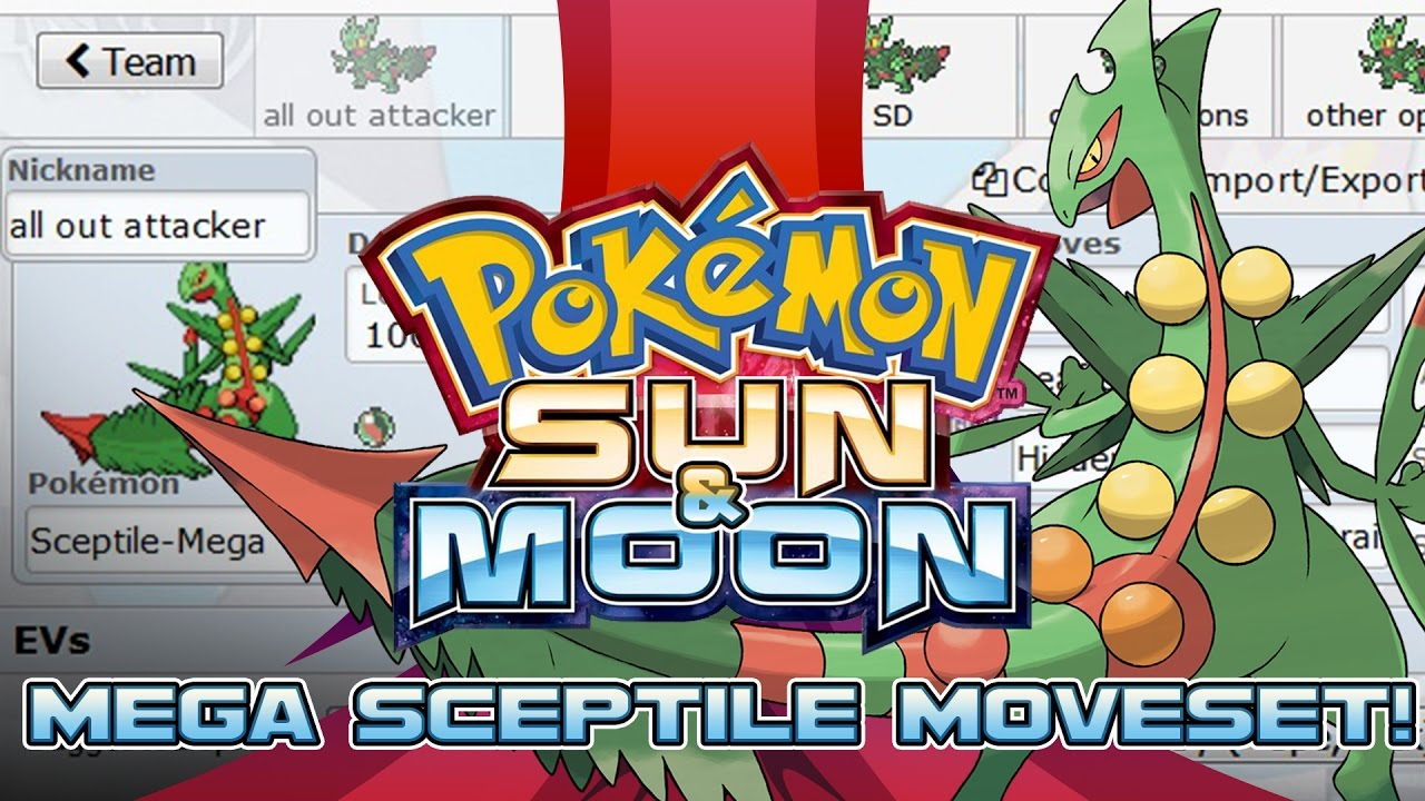 how to get sceptile in pokemon sun and moon