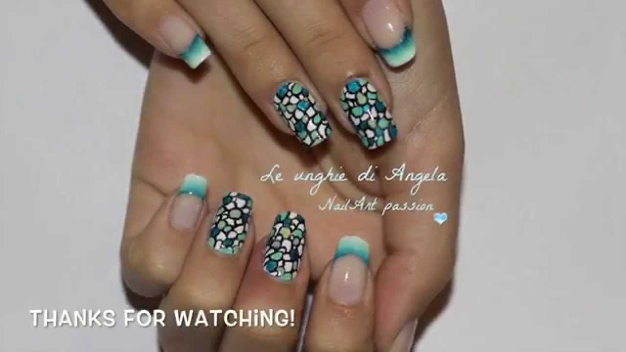 EASY Stained Glass Nail Art Tutorial + Gradient French ...