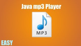 In this video i go over how to make a simple mp3 player java using the jlayer api! download jlayer: http://www.javazoom.net/javalayer/sources/jlayer1.0.1....