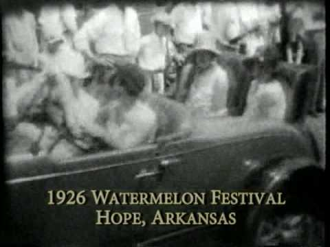 Hope Watermelon Crawl - with 1926 film from Hope, Arkansas