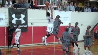 Drew Madsen '13 Finishes off Salesian With Semifinal Dunk, 12/28/12