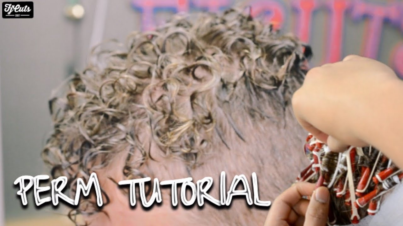 How To Get Curls With Short Hair Perm Tutorial Youtube