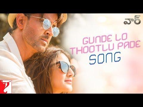 Telugu: Gunde Lo Thootlu Pade Song War  Hrithik, Vaani  Vishal & Shekhar Ft, Rahul V, Anusha M