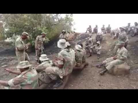 South African Soldiers Singing in Camp