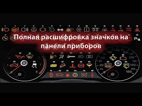 Значки и символы на приборной панели автомобиля, обозначение и расшифровка