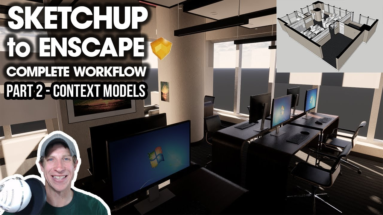 SketchUp to Enscape COMPLETE Workflow - Part 2 - Adding Context