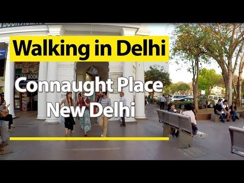 Walking Tour of Connaught Place, New Delhi | Walking in CP Rajiv Chowk