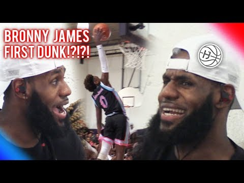 LEBRON JAMES GOING CRAZY After HIS SON's FIRST DUNK???!!!  Bronny James ONLY IN 7th Grade!!