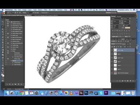 Как делать кольцо в фотошопе