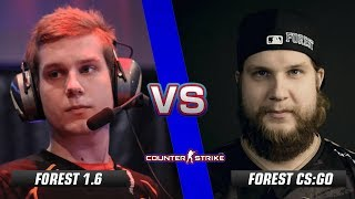 f0rest CS 1.6 vs f0rest CS:GO