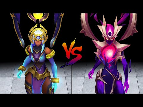 Odyssey Karma vs Dark Star Karma Skin Comparison Spotlight (League of Legends)