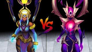 Odyssey Karma vs Dark Star Karma Skin Comparison Spotlight (League of Legends)