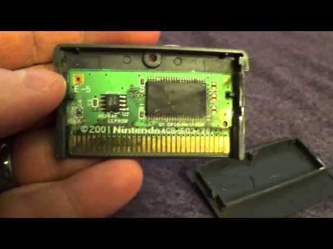 Cleaning a GBA (Gameboy Advance) cartridge