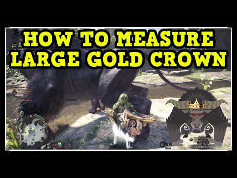 MHW Iceborne Rajang Large Gold Crown (How To Measure Gold Crown Guide)