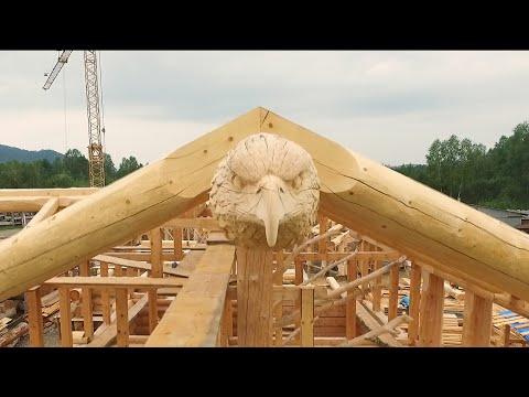 Сруб из Сибири  для Немецких заказчиков. Log cabin from Siberia for German customers.