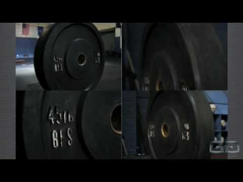 Equipment for crossfit barbells and bumpers strongman