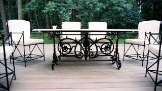 Superior Quality Manufactured Wrought Iron Patio Furniture Los Angeles
