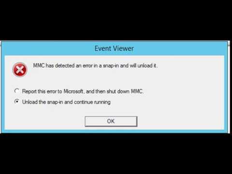 Event Viewer Crashing