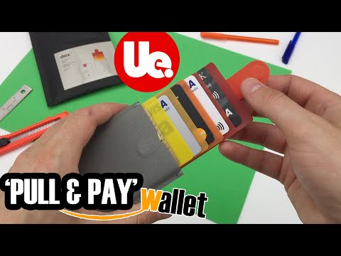 DAX WALLET 'Pull & Pay' Minimalist Wallet - Pop-Up Fast Access!