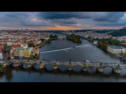 Prague CZECHIA (or Czech Republic) by Drone in 4K