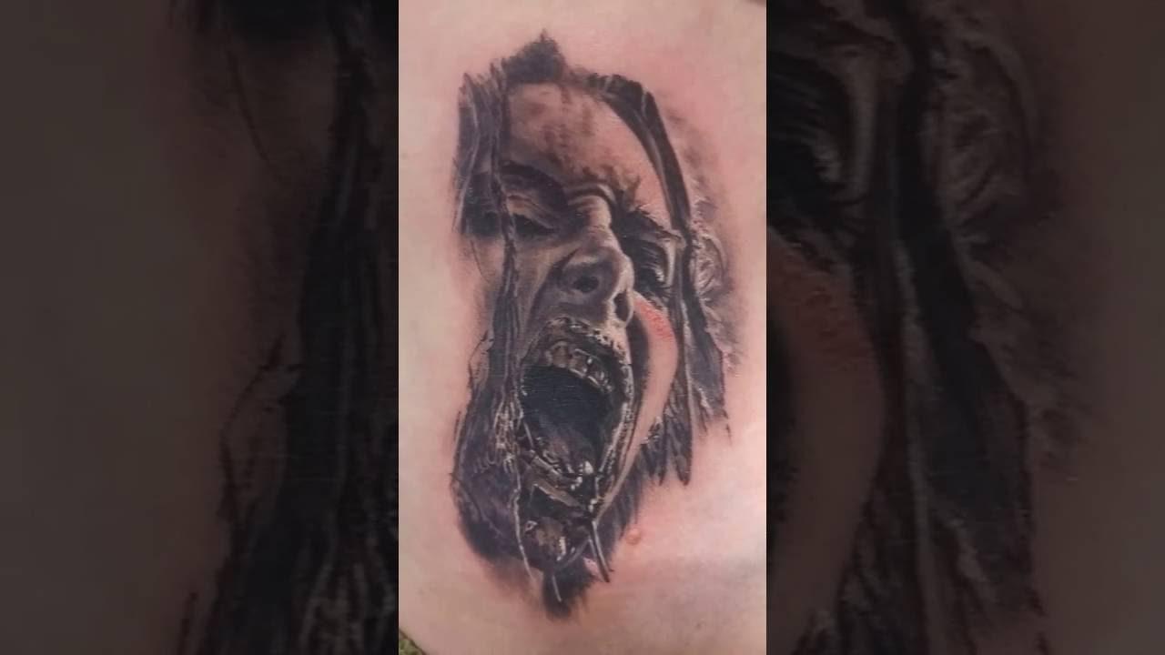 Tatouage Zombie Black Corner Tattoo Youtube
