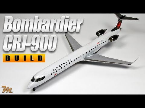 Bombardier CRJ-900 1/144 Scale Model Video Build - Big Plane Kits - Air Canada