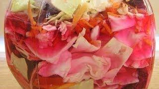 Капуста по-грузински / Sauerkraut in Georgian ♥ English subtitles(Приготовление вкусной и красивой капусты по-грузински - видео рецепт. Кто желает побыстрее - делает в вакуум..., 2012-12-04T17:42:12.000Z)