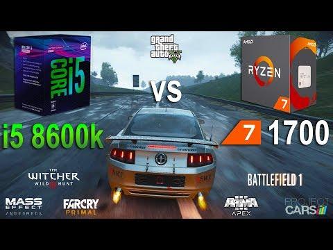 i5 8600k vs Ryzen 7 1700 Test in 7 Games