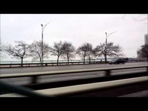 por el lake shor dr de chicago