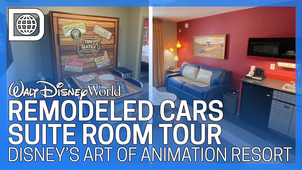 Photos Video Tour A Newly Remodeled Cars Family Suite At Disney S Art Of Animation Resort Wdw News Today