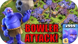 x1000 BOWLER RAID!!! - CoC All Bowlers Mass Attack! - Clash Of Clans New Update - All Troop Attacks