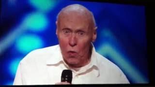Old man sings let the body's hit the floor