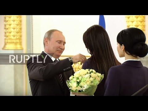 Russia: Putin honours Russian gold medalist Olympians at the Kremlin