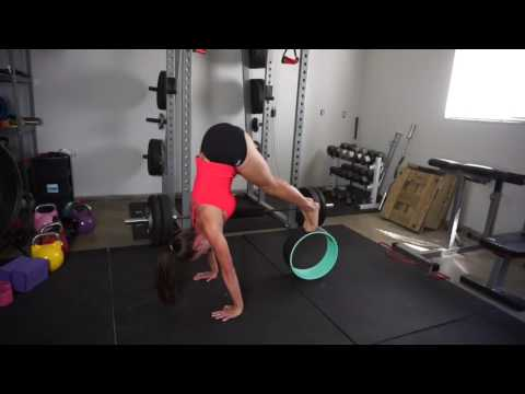 Yoga wheel to help with pike press