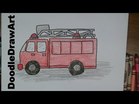 how to draw a firetruck draw this cartoon firetruck youtube