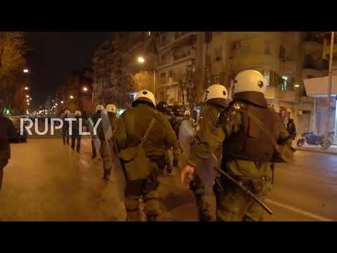 Greece: Clashes erupt at protest over education bill in Thessaloniki