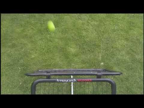 Brad Haddin demostates the Crazy Catch range