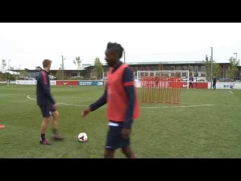 Fantastic Free-Kicks! England-U21s, including Ward-Prowse, Chalobah, Redmond & Ameobi in training